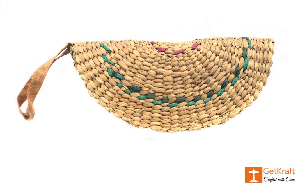 Natural Straw Handmade Clutch(#411)-gallery-0