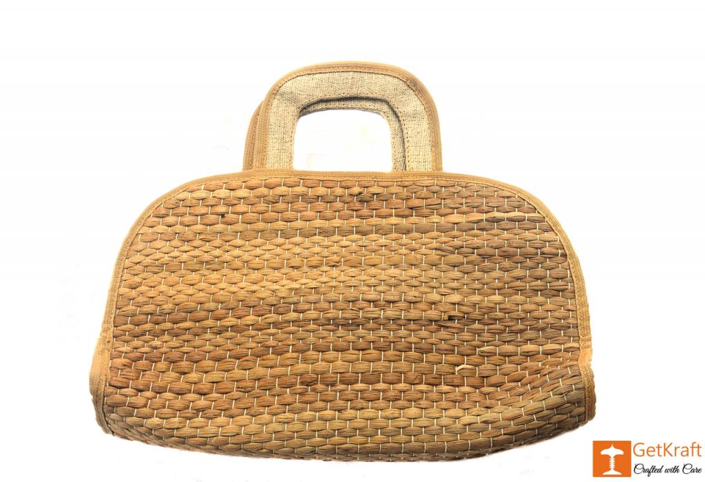 Water Hyacinth Handmade Bowler Bag(#413)-gallery-0