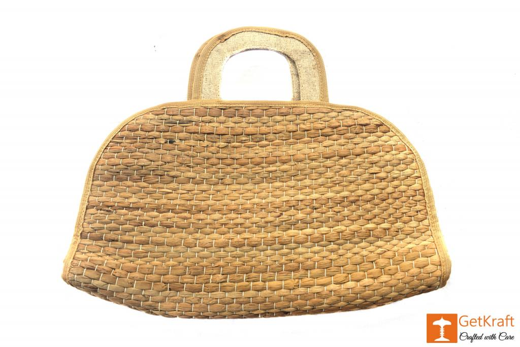 Water Hyacinth Handmade Bowler Bag(#413)-gallery-1