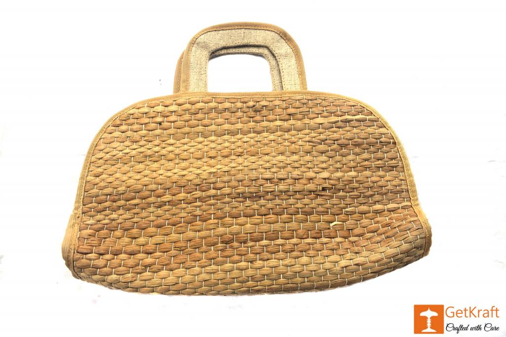 Water Hyacinth Handmade Bowler Bag(#413)-gallery-2