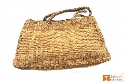 Natural Straw Handmade Hobo Bag(#414)-gallery-0