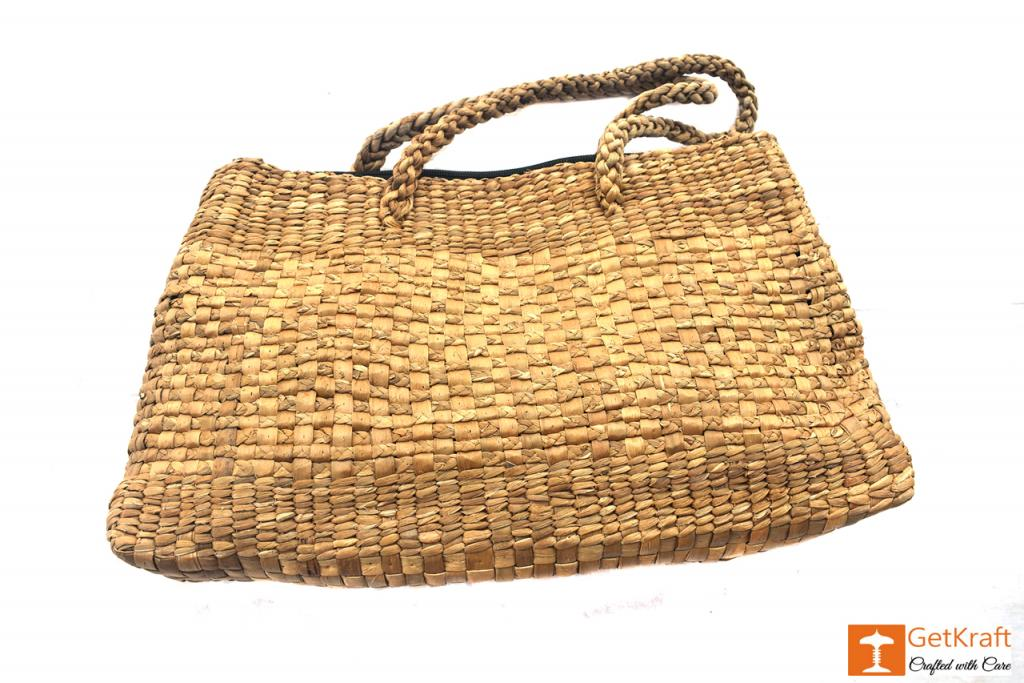 Natural Straw Handmade Hobo Bag(#414)-gallery-0