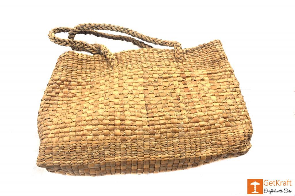 Natural Straw Handmade Hobo Bag(#414)-gallery-1