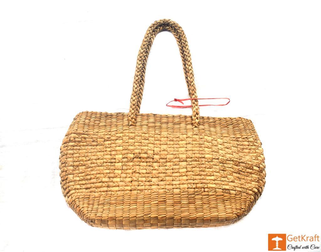 Natural Straw Oval Handbag(#417)-gallery-2