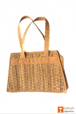 Natural Straw Square Shape Hand Bag(#418)-gallery-0