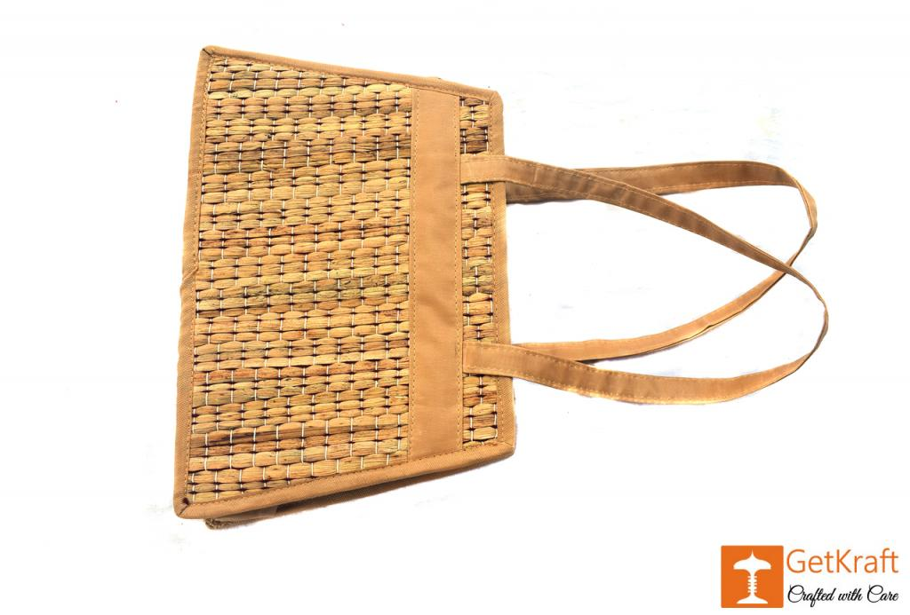 Natural Straw Square Shape Hand Bag(#418)-gallery-1