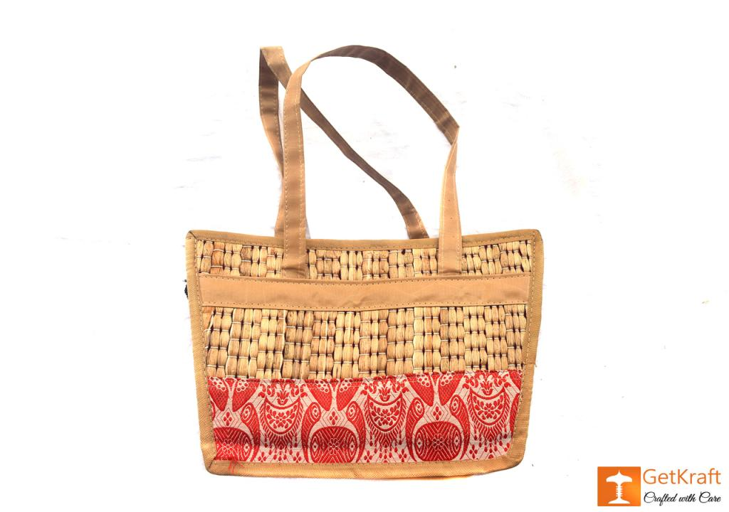 Natural Straw Square Shape Hand Bag(#419)-gallery-1