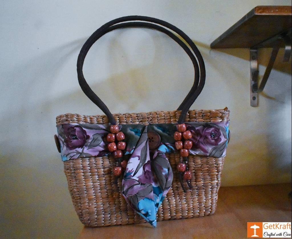 Natural Straw Designer Tote Bag(#420)-gallery-0