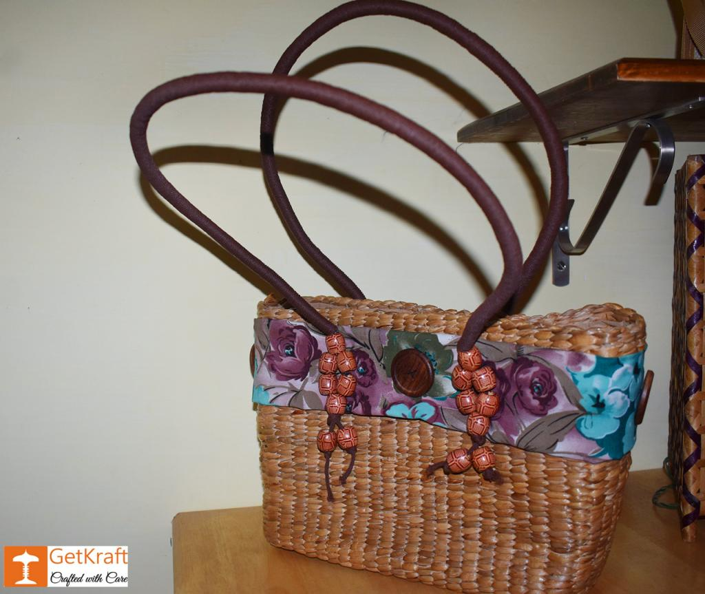 Natural Straw Designer Tote Bag(#420)-gallery-1