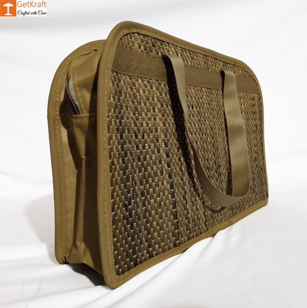 Water Hyacinth Designer Bowler Bag(#421)-gallery-1