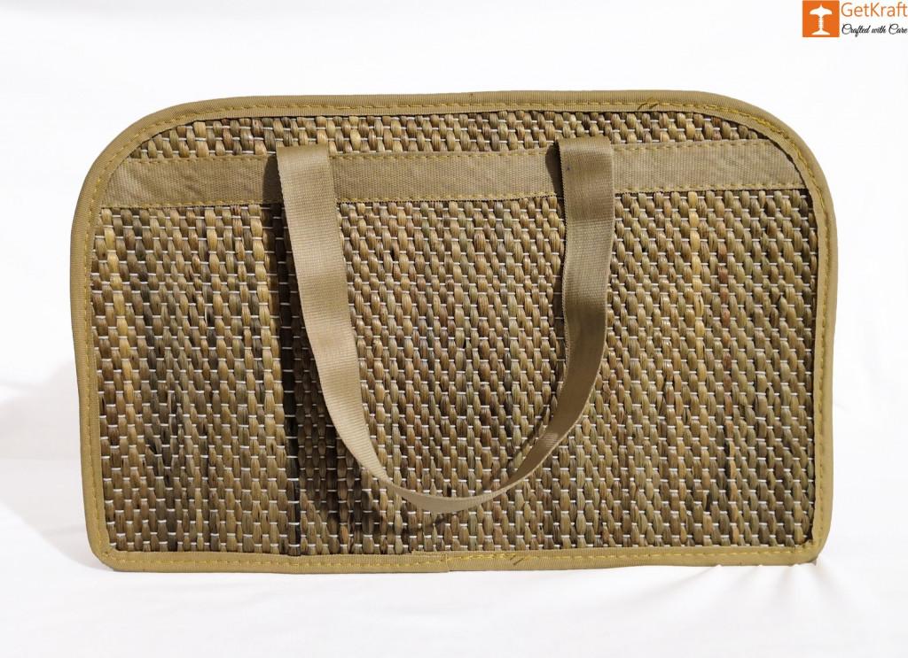 Water Hyacinth Designer Bowler Bag(#421)-gallery-3