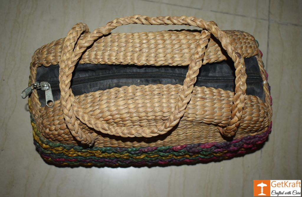 Water Hyacinth Hobo Bag (Big)(#422)-gallery-1