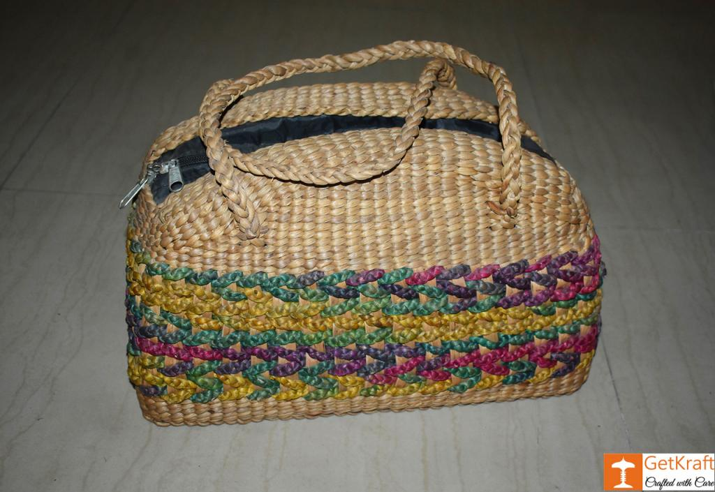 Water Hyacinth Hobo Bag (Big)(#422)-gallery-0