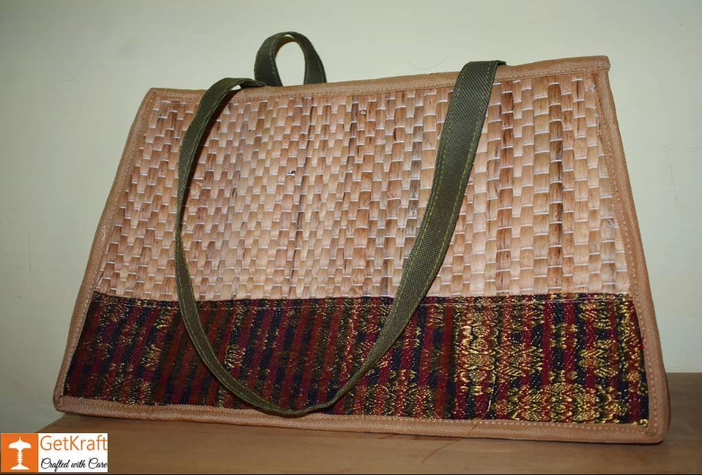 Natural Straw Square Shaped Handbag(#423)-gallery-0