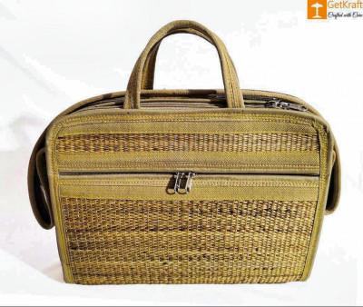 Natural Straw Handmade Messenger Bag(#425)-gallery-0