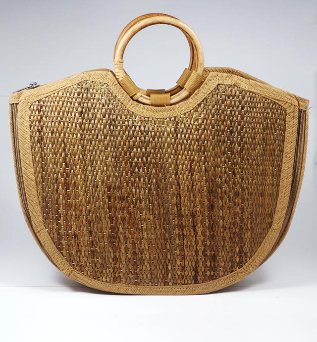 Water Hyacinth Handmade Large U-bag(#426)-gallery-3
