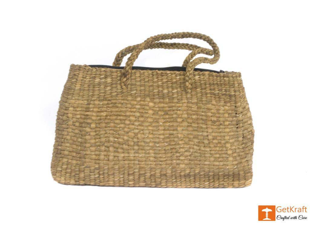 Water Hyacinth Medium-sized Bowler Bag(#428)-gallery-1