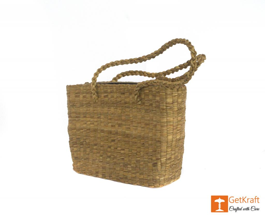 Water Hyacinth Handmade Bag with long handle(#430)-gallery-2