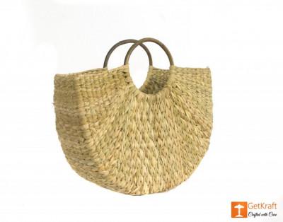 Natural Straw Handmade Bag(#432)-gallery-0