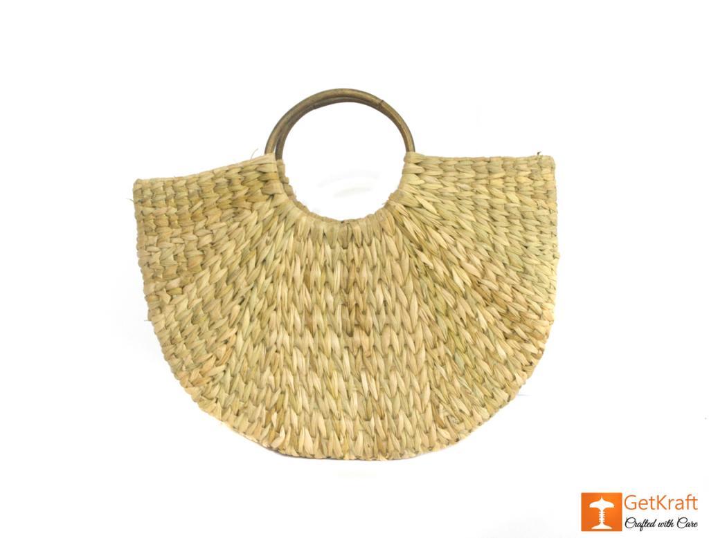 Natural Straw Handmade Bag(#432)-gallery-1