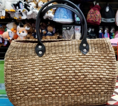 Natural Straw Handmade Oval shaped bag(#437)-gallery-0