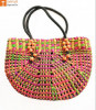 Natural Straw Handmade Multi-coloured Bag(#438) - getkraft.com