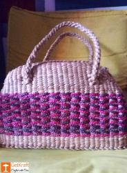 Water Hyacinth Handmade Multi-coloured Shopping Bag(#442) - getkraft.com