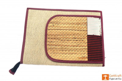 Natural Straw and Jute bag with vivid patterns(#445)-gallery-0