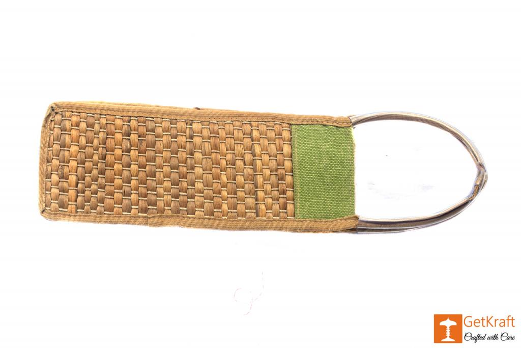 Jute - Water Hyacinth Bottle Bag(#454)-gallery-1