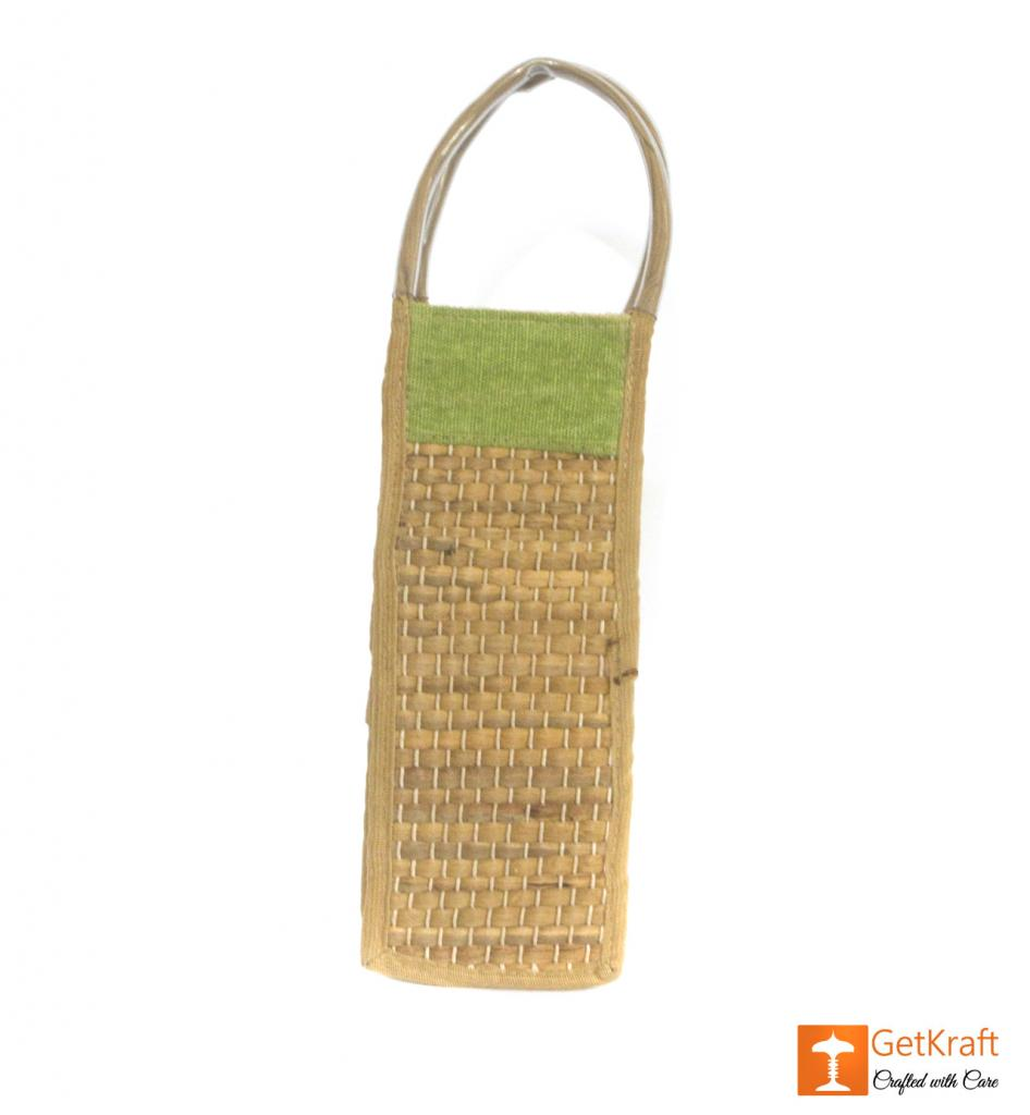 Jute Natural Straw Bottle Bag(#454)-gallery-0