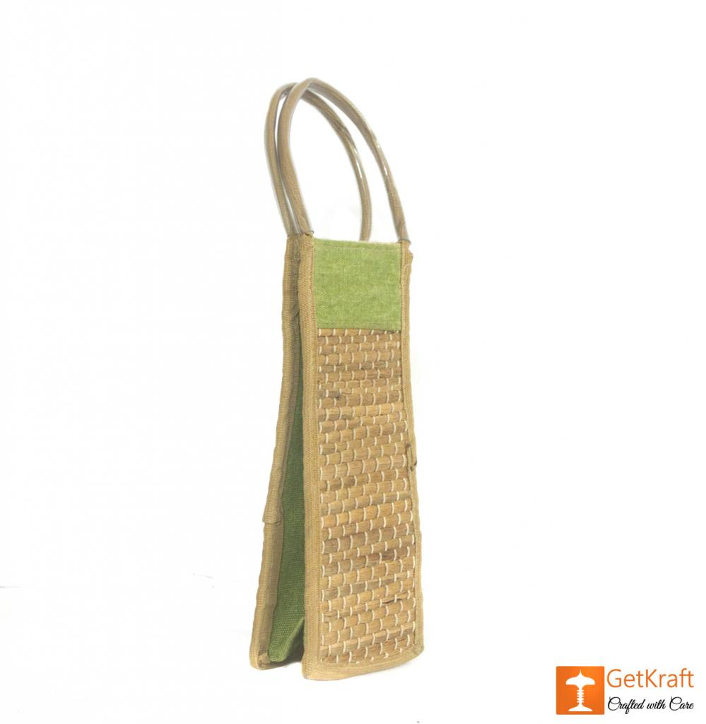 Jute - Water Hyacinth Bottle Bag(#454)-gallery-2