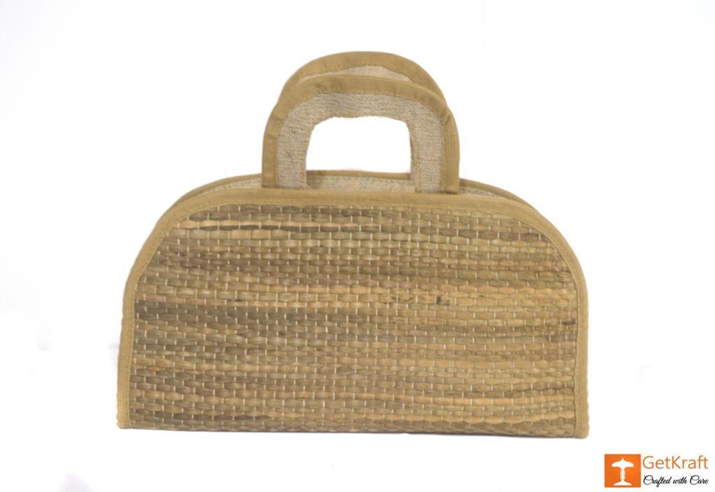 Jute Water Hyacinth Hand bag(#457)-gallery-1
