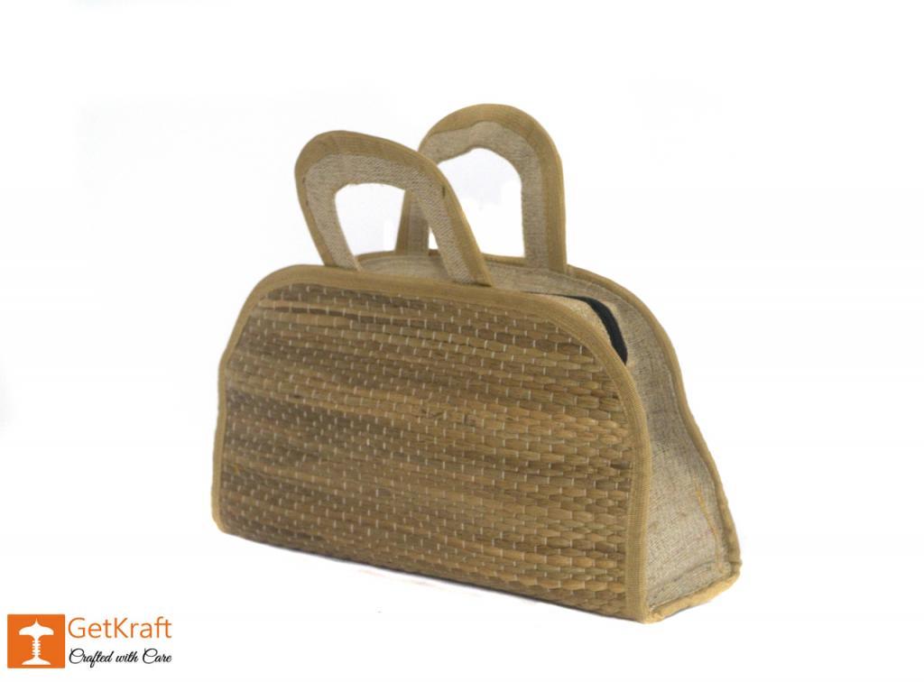 Jute Water Hyacinth Hand bag(#457)-gallery-2