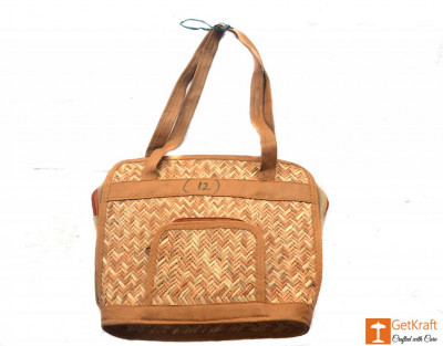 Sitalpati Rectangle Shaped Medium-Sized Handbag(#480)-gallery-0