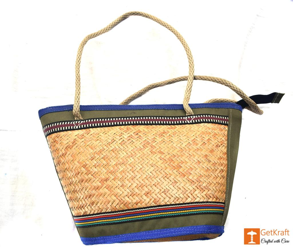 Sitalpati Medium-sized Handbag with mixed colours(#481)-gallery-1