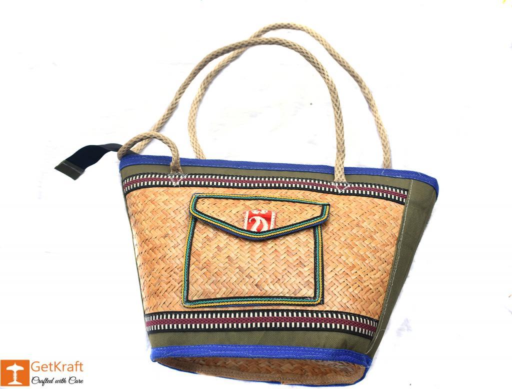 Sitalpati Medium-sized Handbag with mixed colours(#481)-gallery-0
