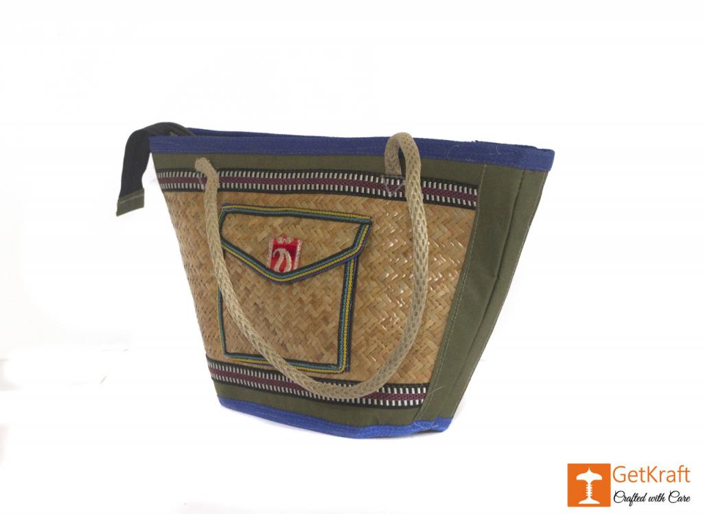 Sitalpati Handmade Bag with various coloured designs(#484)-gallery-2