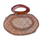 Sitalpati Small Handmade Purse with Wood Handle(#488) - getkraft.com
