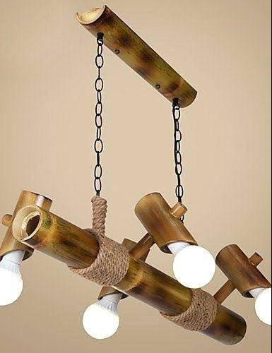 Eco-friendly Handmade Hanging Bamboo Lamp(#496)-gallery-0