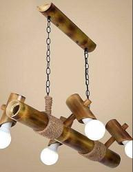Eco-friendly Handmade Hanging Bamboo Lamp(#496) - getkraft.com