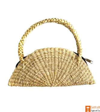 Natural Straw Handmade Clutch(#510)-gallery-0