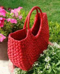 Natural Straw Handmade Red U bag(#511)-gallery-0