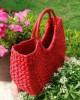 Natural Straw Handmade Red U bag(#511) - getkraft.com