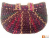 Large Natural Straw Multicolored Handbag(#518) - getkraft.com