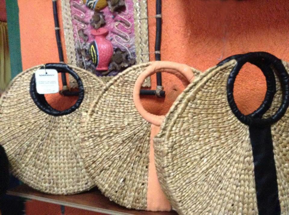 Natural Straw Handbag (Round)(#520)-gallery-0