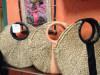 Natural Straw Handbag (Round)(#520) - getkraft.com