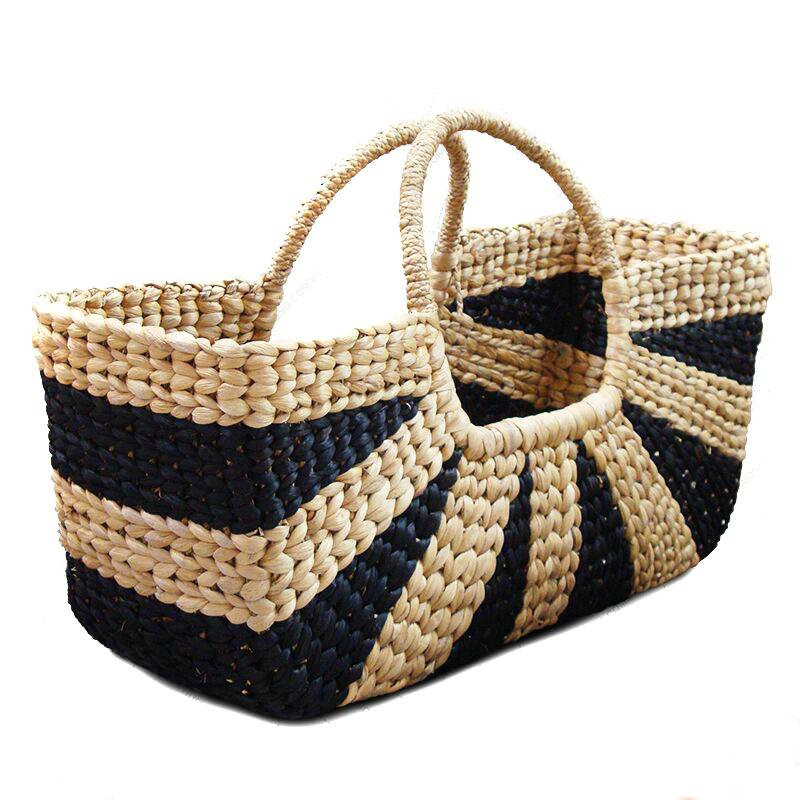 Extra Large Natural Straw Handbag with large handle(#523)-gallery-0