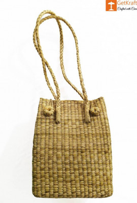 Large Natural Straw Handbag with long handle support(#524)-gallery-0