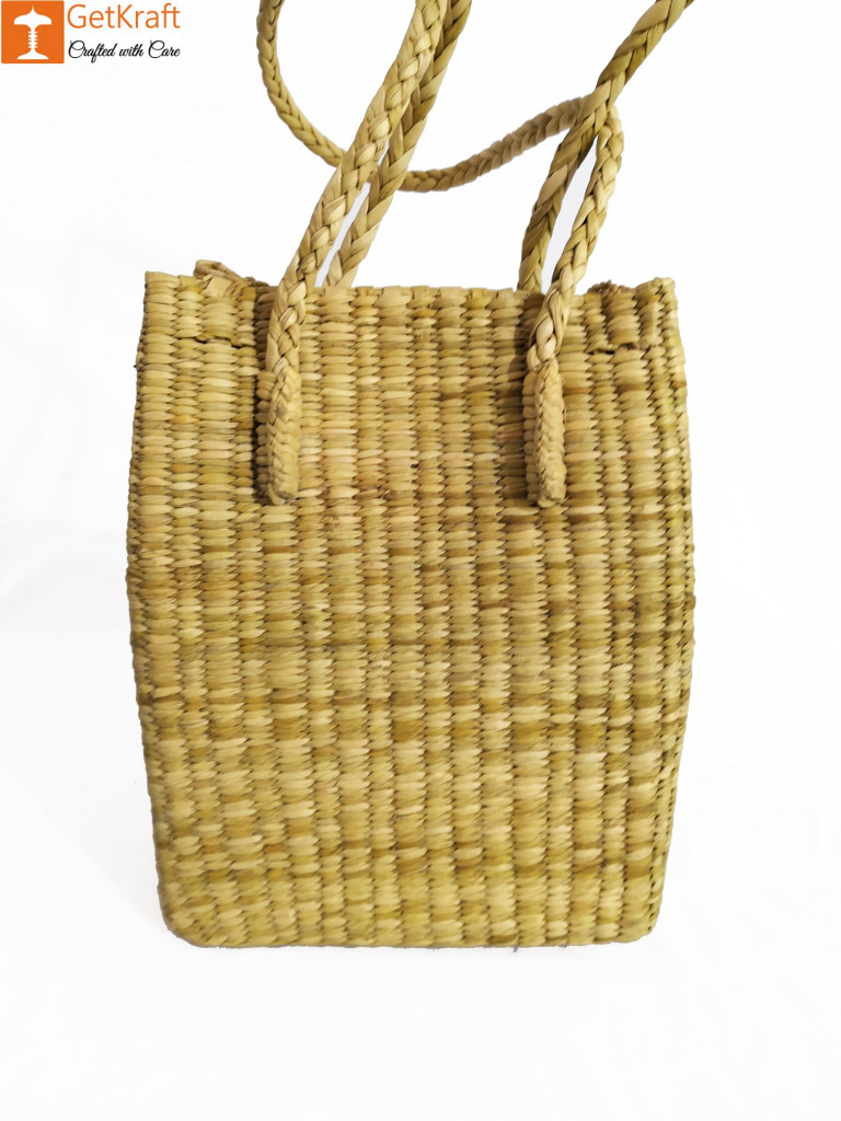 Large Natural Straw Handbag with long handle support(#524)-gallery-1