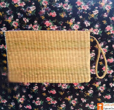 Natural Straw Handmade Purse(#529)-gallery-0